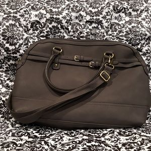 Merona Charcoal Grey Tote Bag